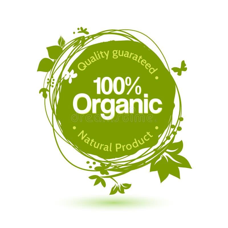 Grünes Handzeichnungskonzept für Bioprodukt lizenzfreie abbildung