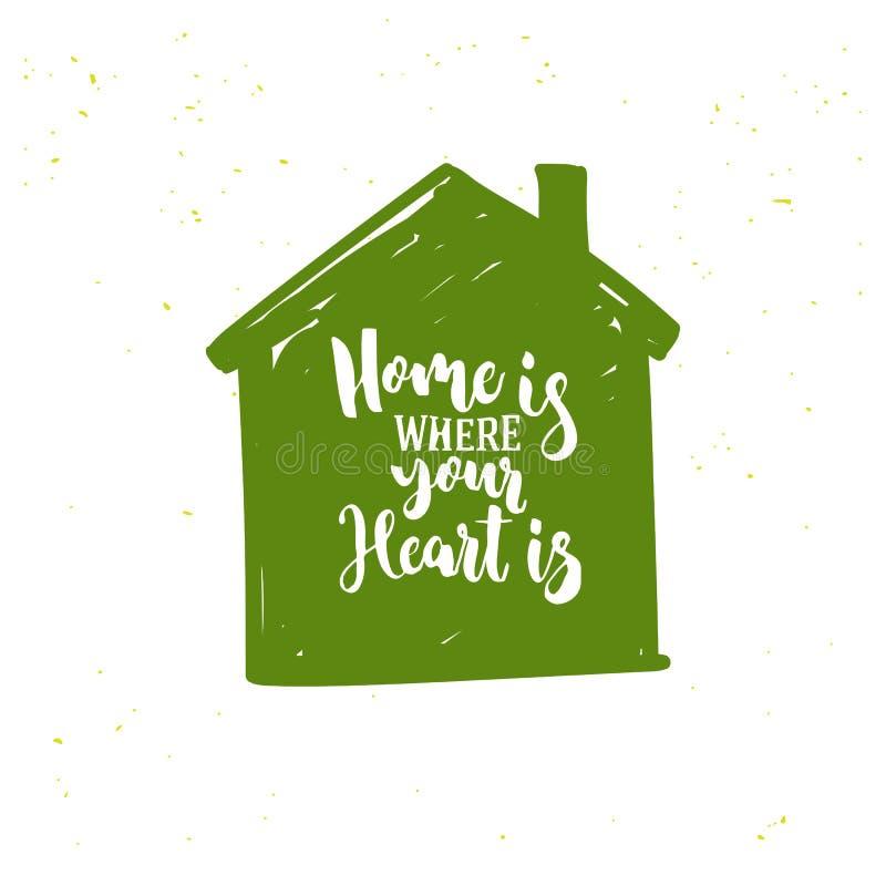 Grünes Haus-Ikone vektor abbildung