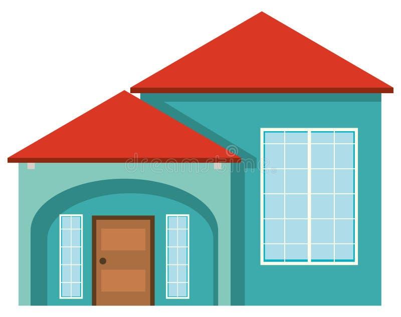 Superb Download Grünes Haus Mit Rotem Dach Vektor Abbildung. Illustration Von  Architekt   84393809