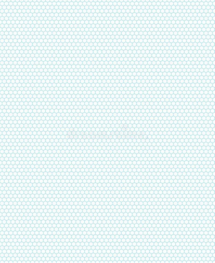 Grünes Hexagonmuster auf dem weißen Hintergrund lizenzfreies stockbild