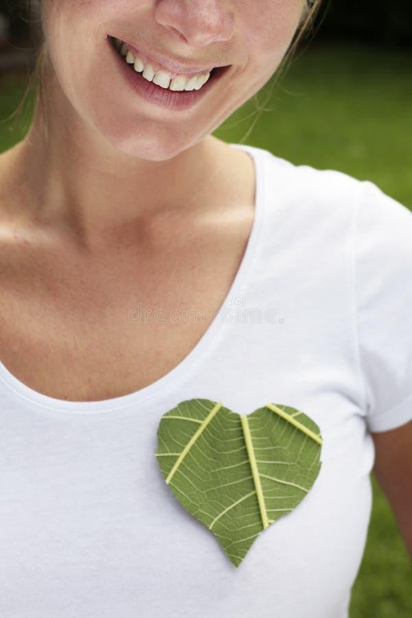 Grünes Inner-Lächeln lizenzfreie stockfotografie