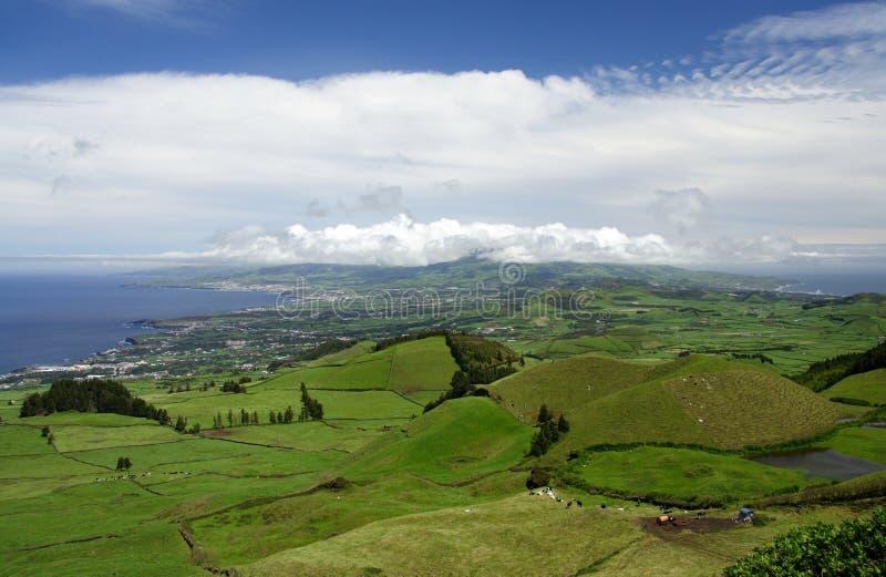 Grünes Insel-Panorama lizenzfreies stockbild