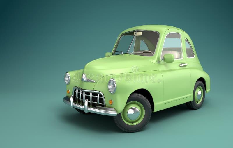 Grünes Karikatur-Auto stock abbildung