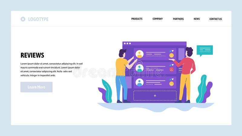 Grünes Konzept On-line-Berichte und Beurteilung der Kreditwürdigkeit eines Kunden Landungsseitenkonzepte für Website und Mobile stock abbildung