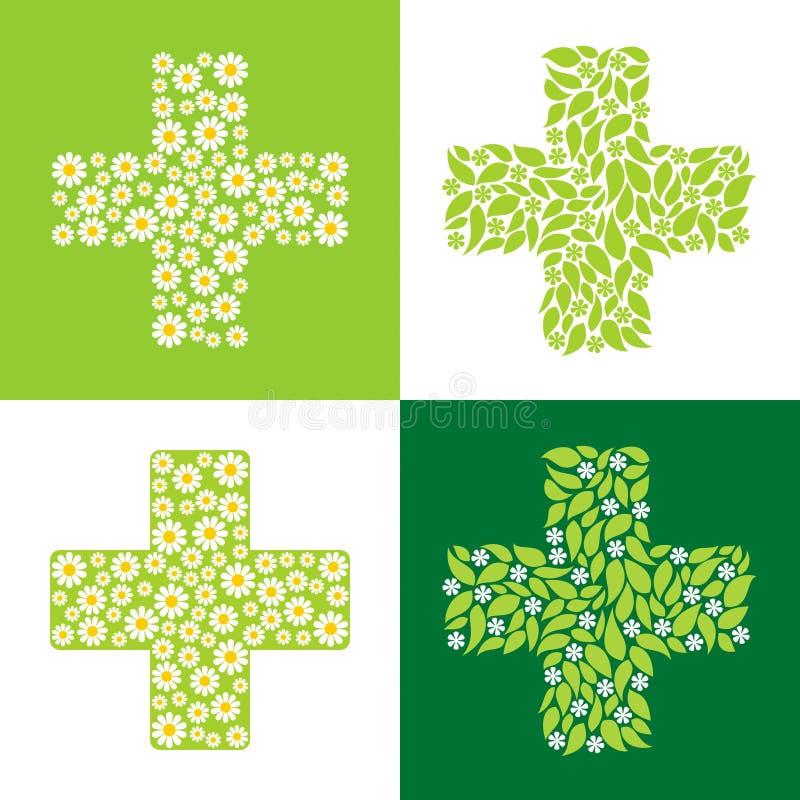 Grünes Kreuz stock abbildung
