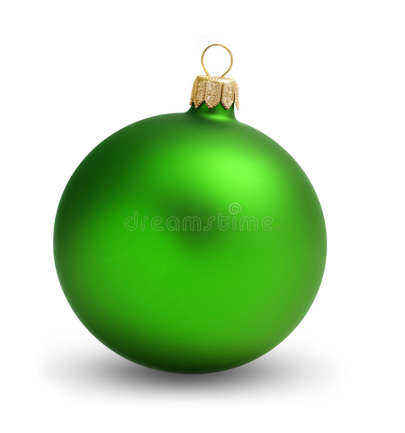 Grünes Kugelweihnachten lizenzfreies stockbild