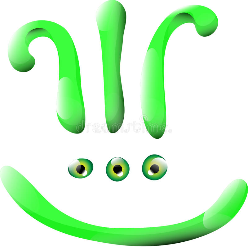 Grünes Lächeln stockfoto