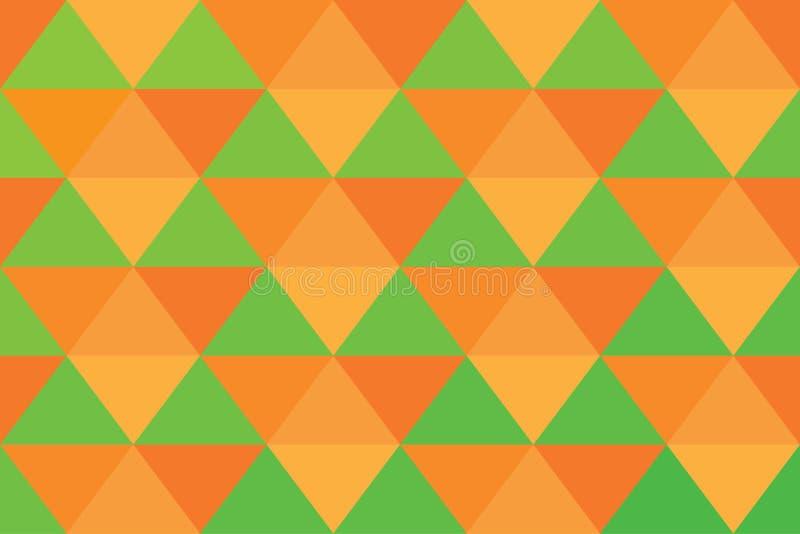 Grünes Licht des orange abstrakten Musters der Hintergrunddreieckpixelfahne stockbilder