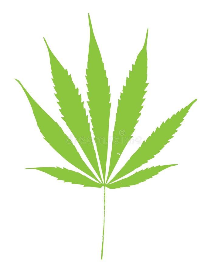 Grünes Marihuanablatt lizenzfreie abbildung