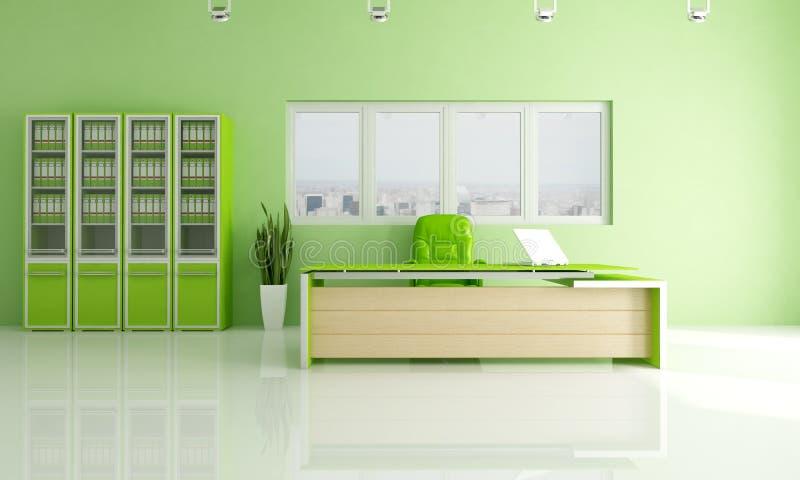 Grünes modernes Büro lizenzfreie abbildung