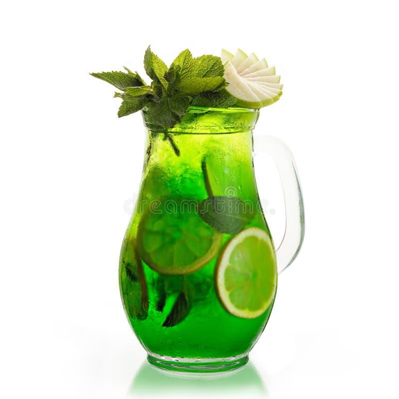 Grünes mojito lizenzfreie stockfotos