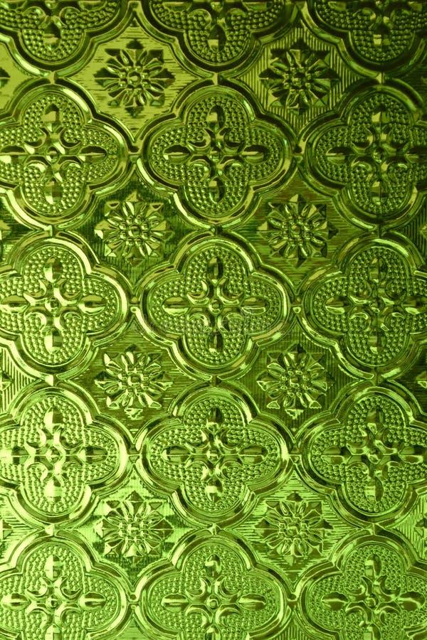 Grünes Muster-Glas lizenzfreie stockfotos