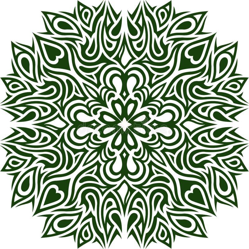 Grünes Muster mit Klee lizenzfreie abbildung