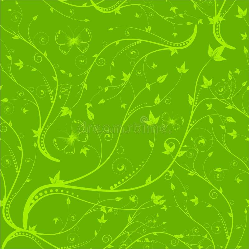 Grünes nahtloses Blumenmuster vektor abbildung