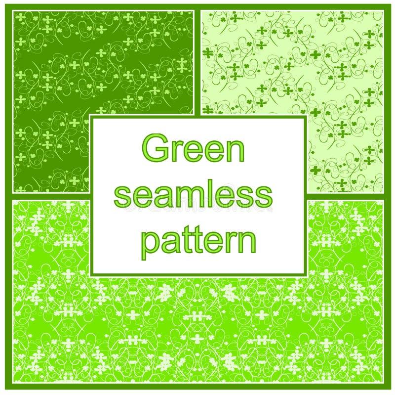 Grünes nahtloses Muster stock abbildung