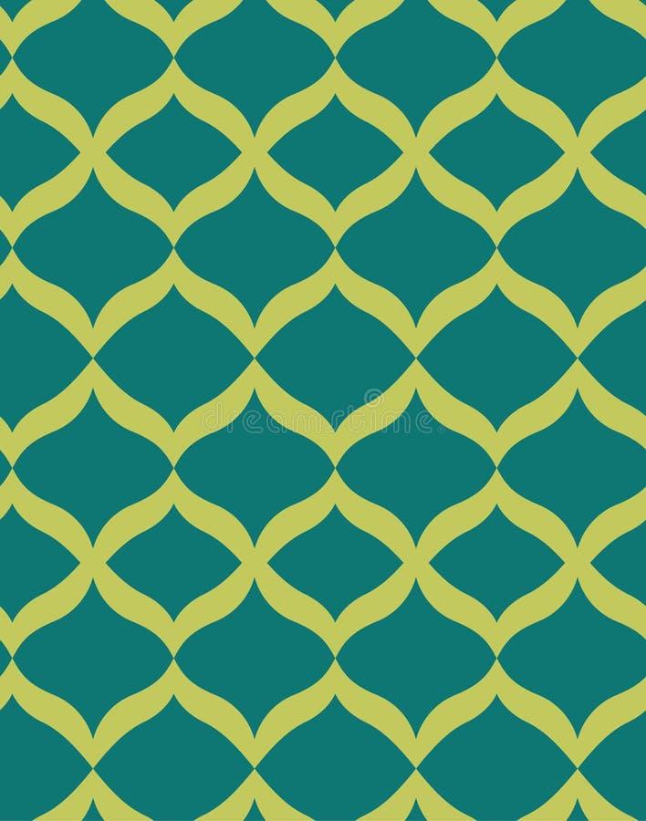 Grünes nahtloses Muster Art Deco lizenzfreie abbildung