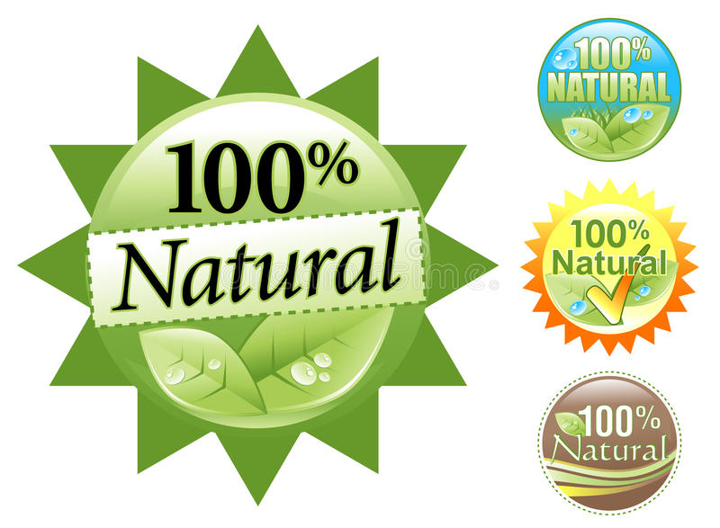 Grünes organisches 100% natürliches Ikonen-Set