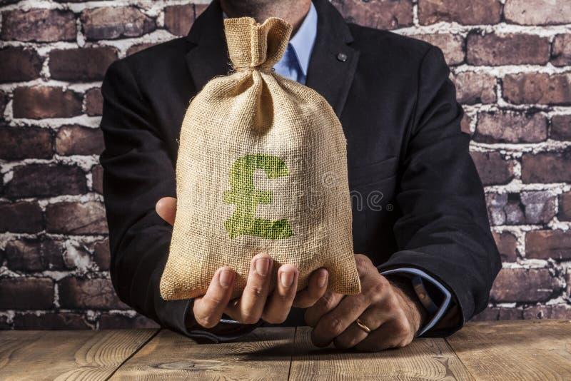 Grünes Pfund-Geld stockfoto