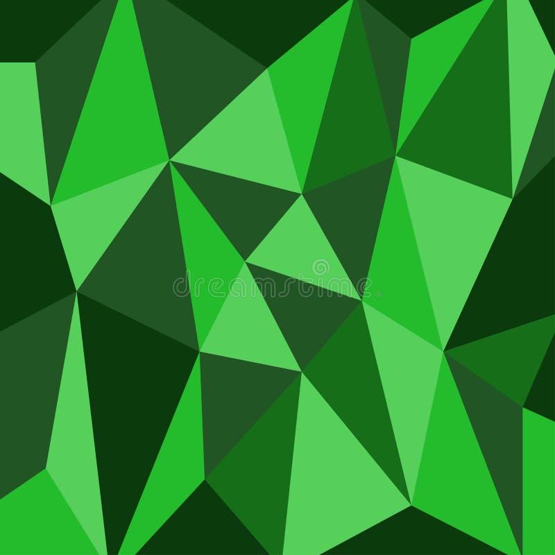 Grünes Polygondesign und Dreieckhintergrund lizenzfreies stockbild