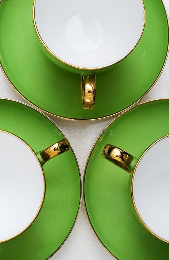 Grünes Porzellan stockbilder