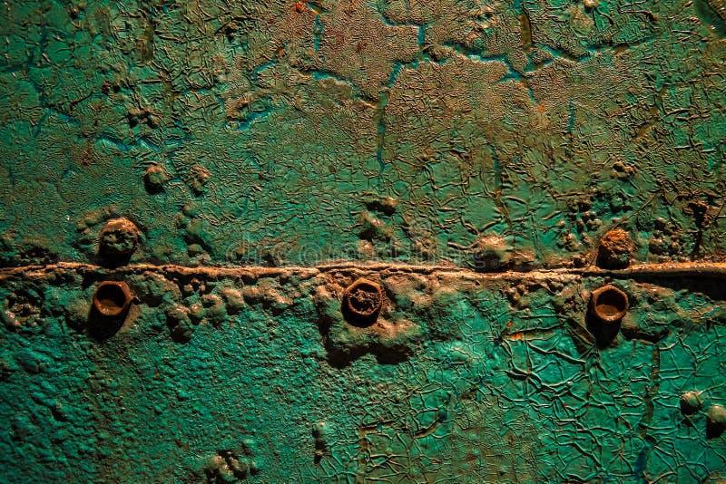 Grünes rostiges Metall stockfotografie
