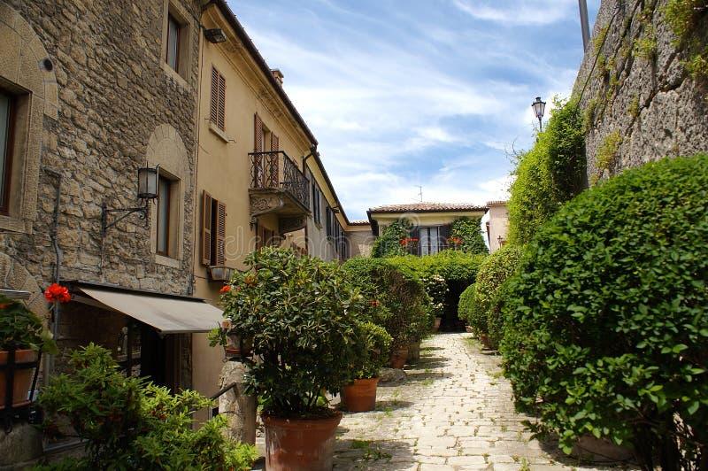 Grünes San Marino stockbild