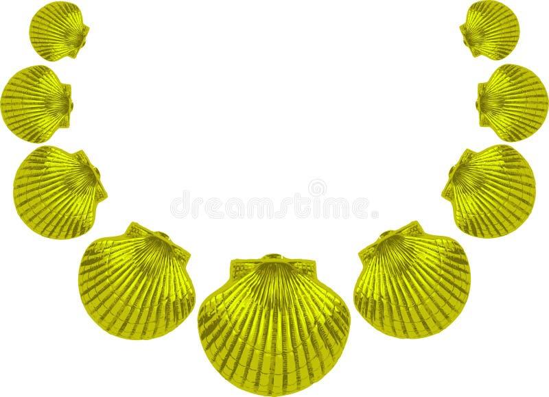 Grünes Seeshellhalskette lizenzfreie abbildung