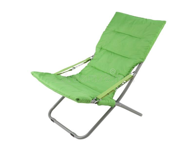 Grünes Segeltuch deckchair lizenzfreies stockbild