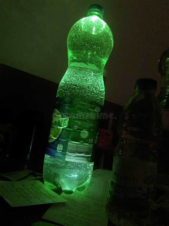 Grünes selbst gemachtes Licht stockfoto