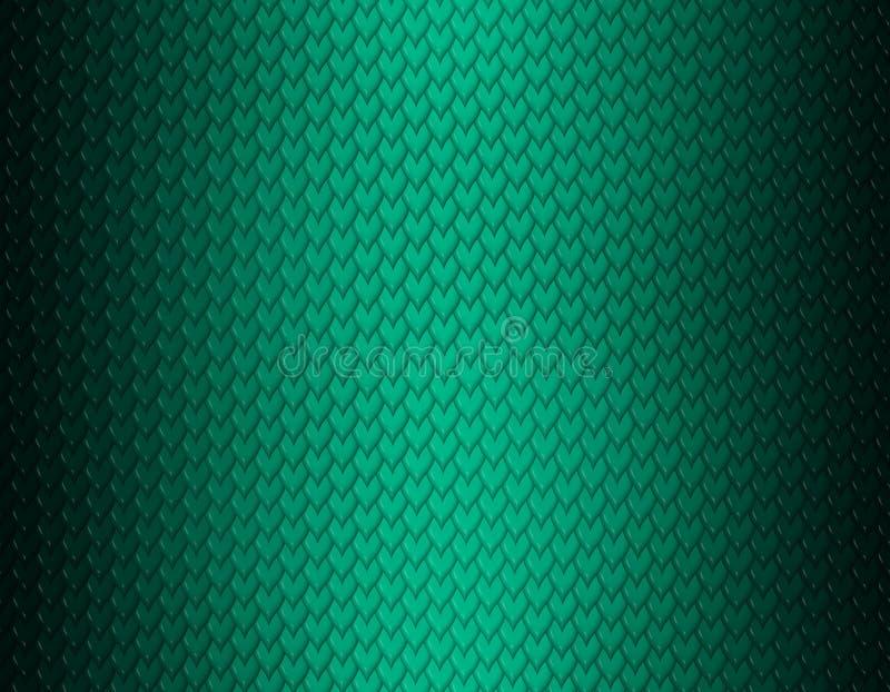 Grünes Smaragd- und schwarzes Steigungsschlangenhautmuster, kurze scharfe Skala lizenzfreie abbildung