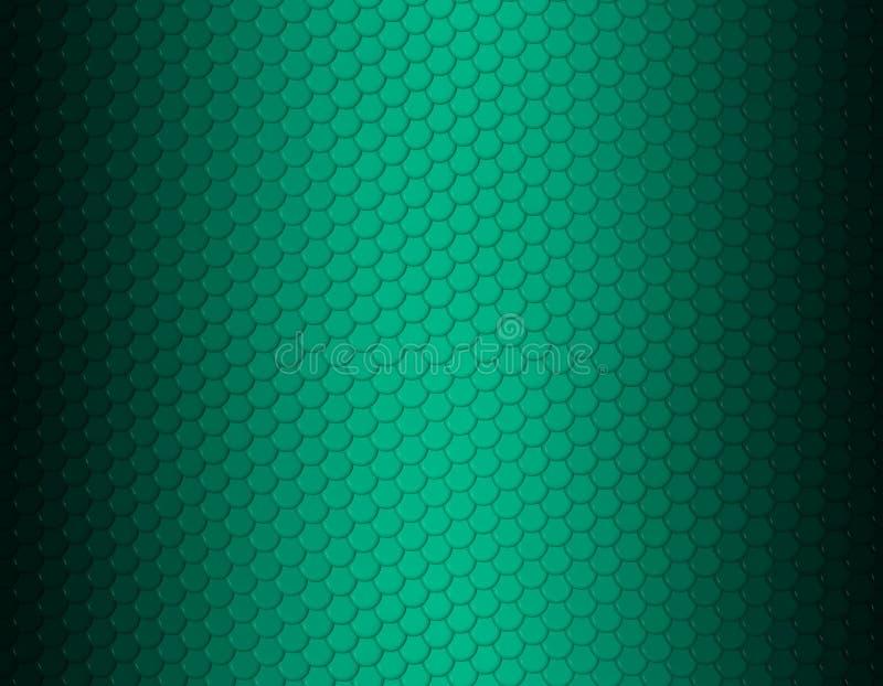 Grünes Smaragd- und schwarzes Steigungsschlangenhautmuster, runde Skala lizenzfreie abbildung
