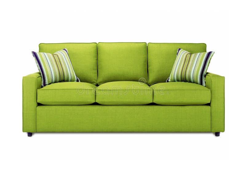 Grünes Sofa lizenzfreie stockfotografie