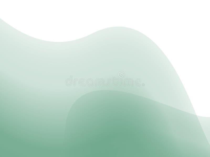Grünes Stängelmuster stock abbildung