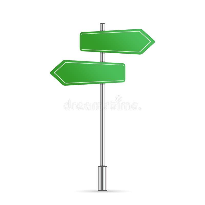 Grünes Straßenschild lizenzfreie abbildung