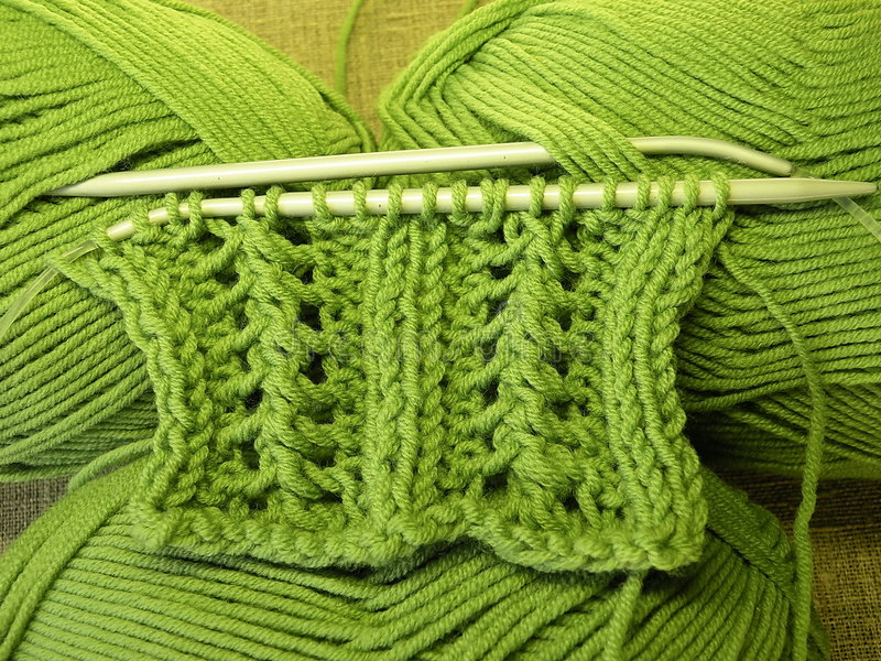 Grünes Stricken stockbilder