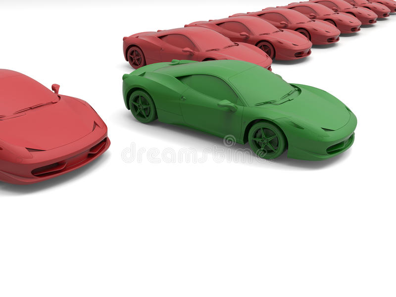 Grünes Superautokonzept vektor abbildung