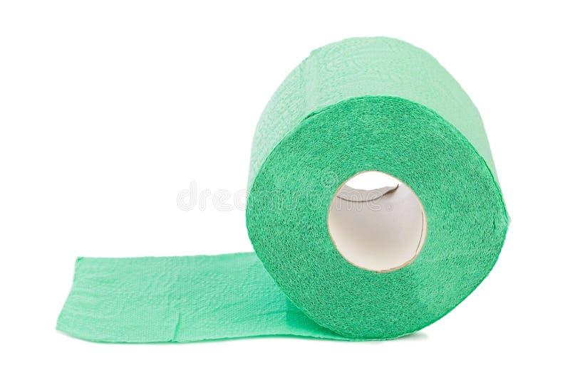 Grünes Toilettenpapier stockfotos