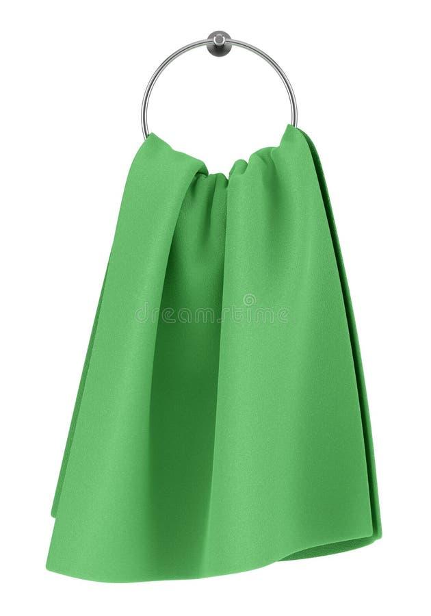 Grünes Tuch auf der Aufhängung getrennt auf Weiß vektor abbildung