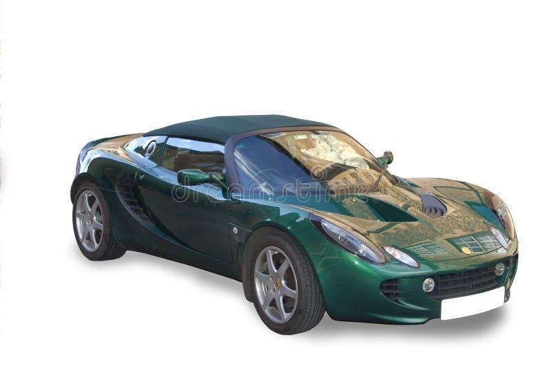 Grünes umwandelbares Sport-Auto stockfotografie