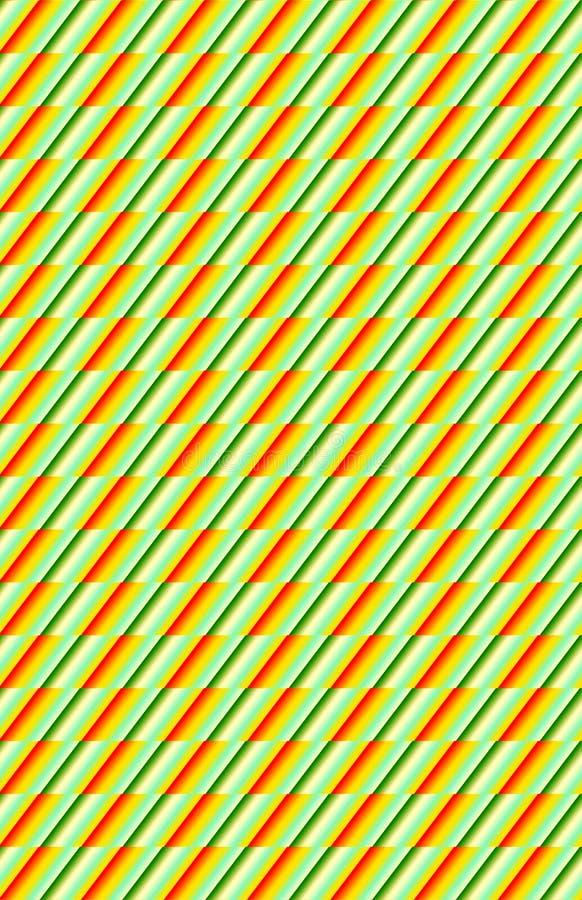 Grünes und orange diagonales dynamisches Muster lizenzfreie stockfotografie