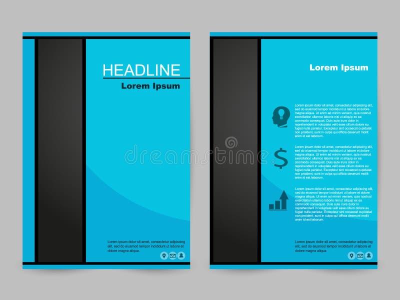 Grünes und schwarzes Broschürendesign lizenzfreie stockbilder