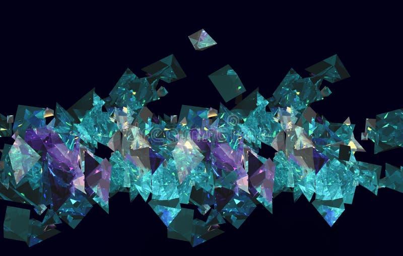 Grünes und violettes dimond vektor abbildung