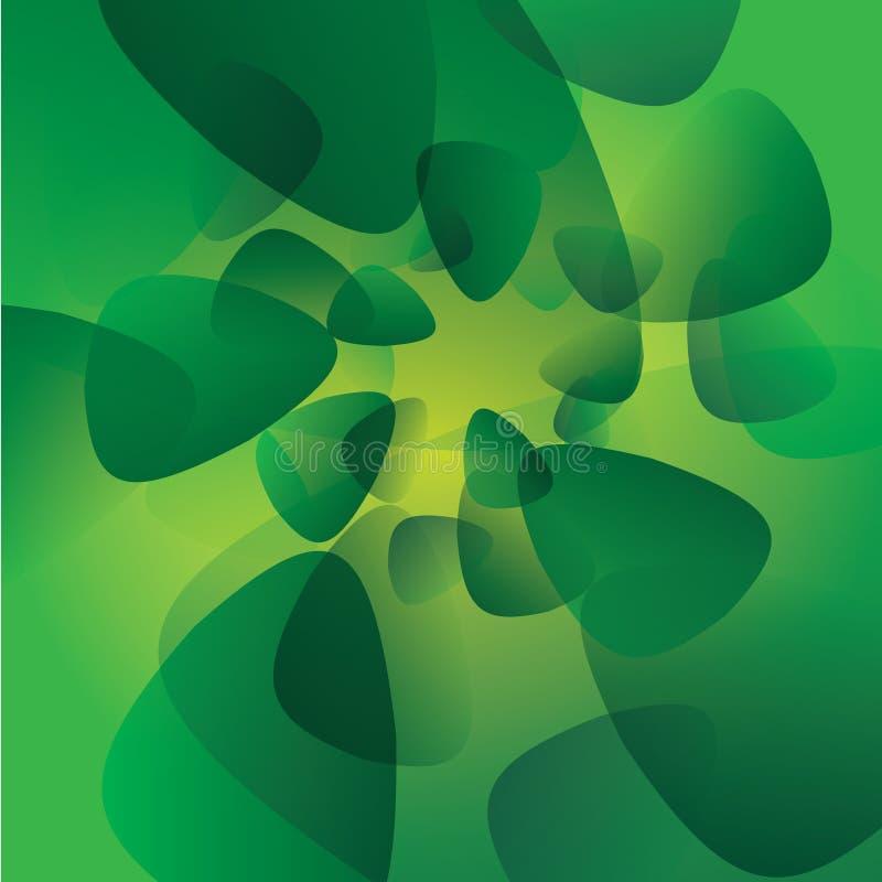 Grünes Vektorhintergrund-Glühenmuster lizenzfreie abbildung