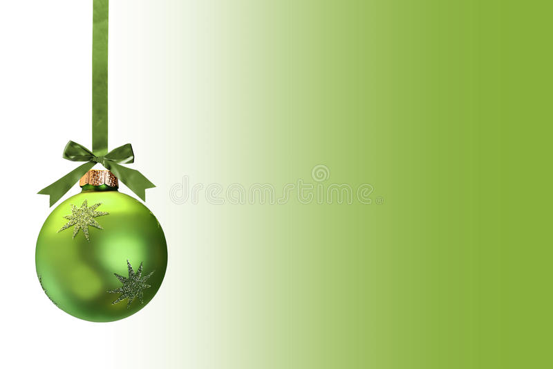 Grünes Weihnachten stockfoto