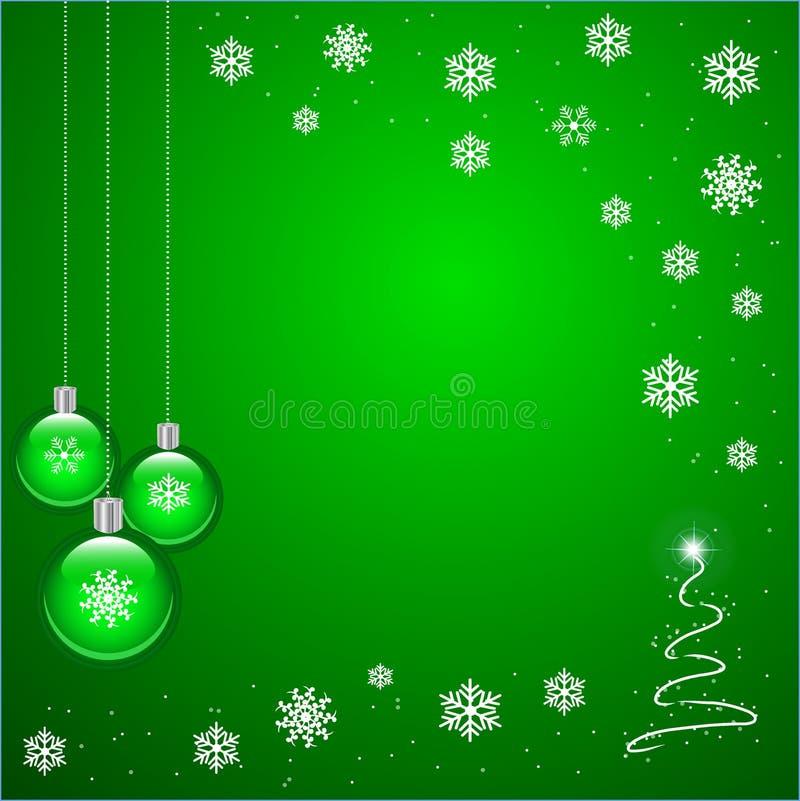 Grünes Weihnachten lizenzfreie abbildung