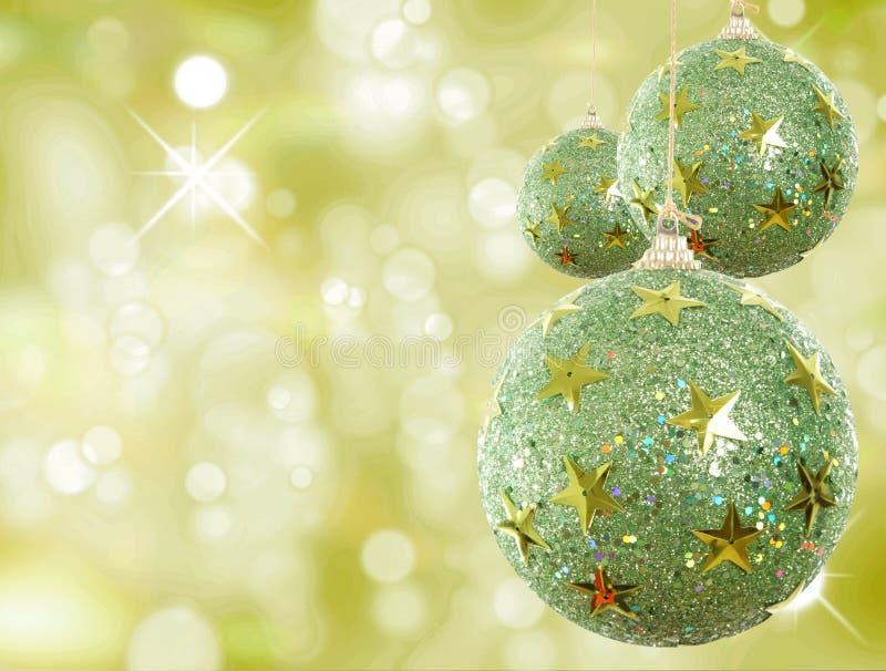 Grünes Weihnachten lizenzfreie stockbilder