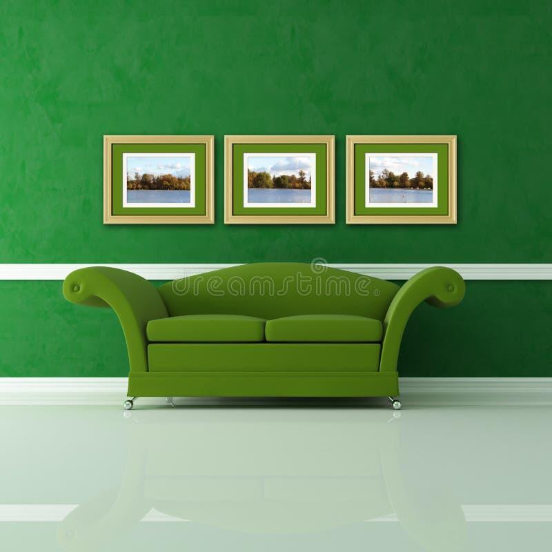 grünes wohnzimmer lizenzfreies stockfoto - bild: 12093335, Wohnzimmer