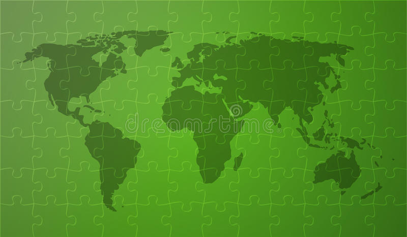 Grünes worldmap vektor abbildung