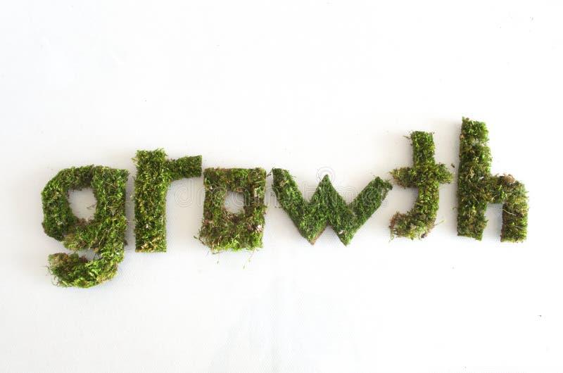 Grünes Wortwachstum stockfotos