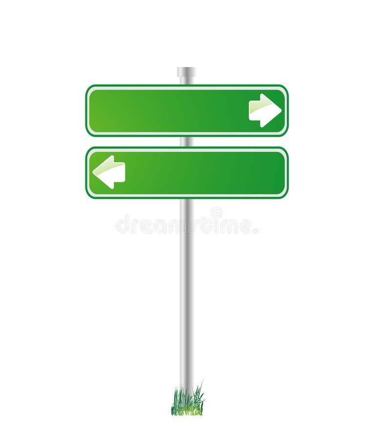 Grünes Zeichen für Richtung lizenzfreie abbildung
